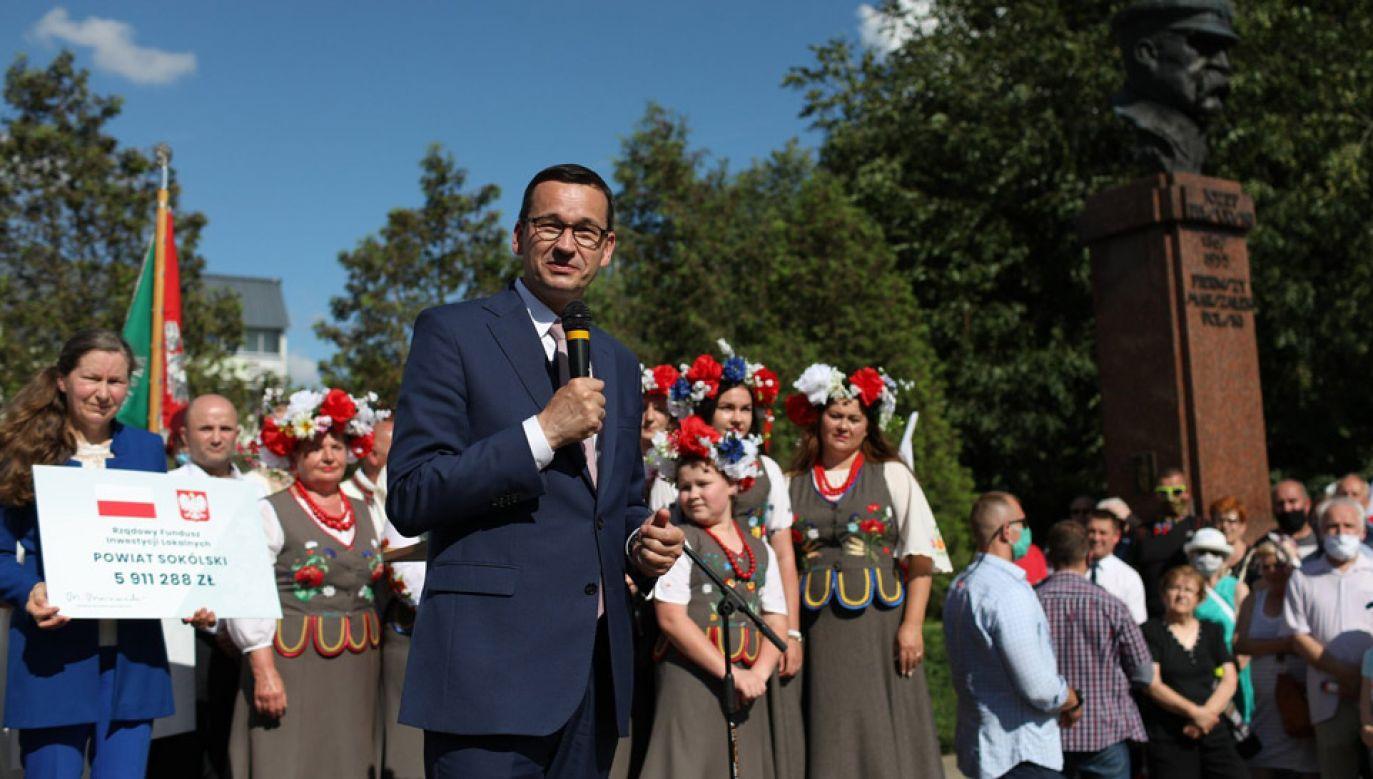 Premier Morawiecki odwiedził Sokółkę (fot. Twitter/KPRM)
