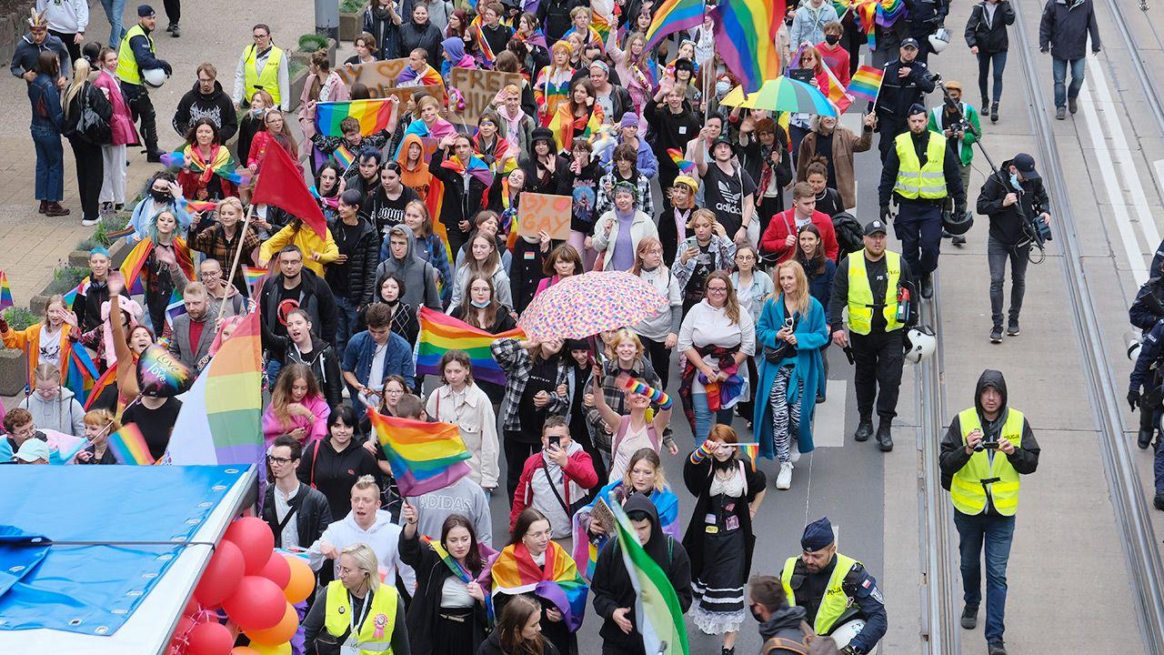 Marsz Równości w Szczecinie (fot. Forum/Dariusz Gorajski)