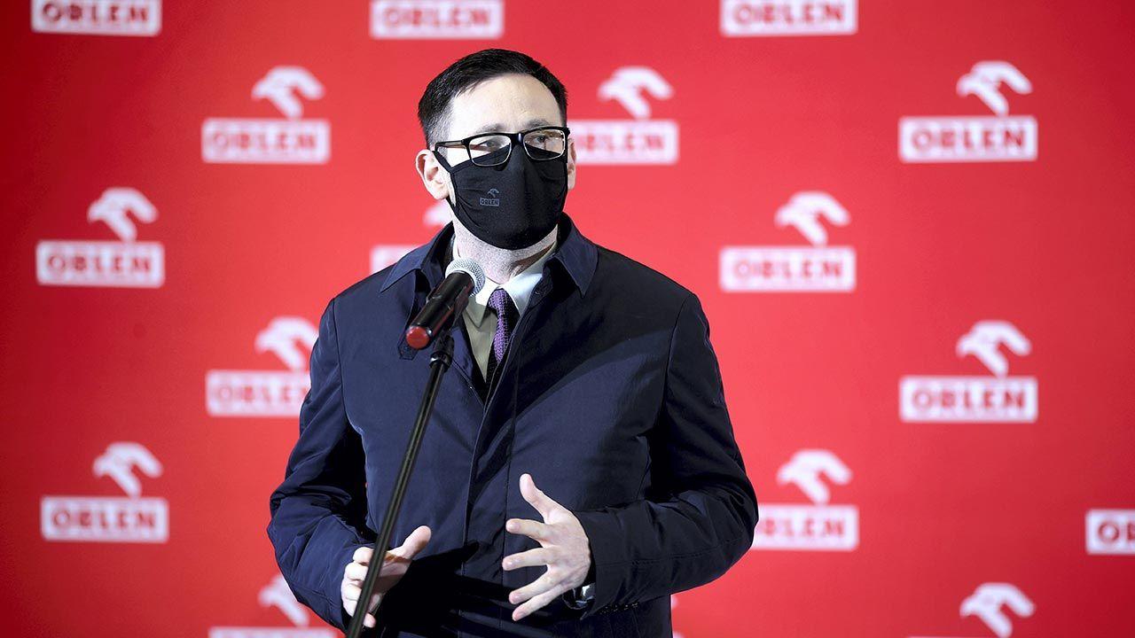 Prezes PKN Orlen Daniel Obajtek (fot. PAP/Łukasz Gągulski)