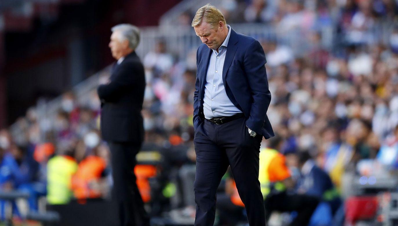 Ronald Koeman miał kłopoty z opuszczeniem stadionu po meczu z Realem (fot. Xavier Bonilla/NurPhoto via Getty Images)