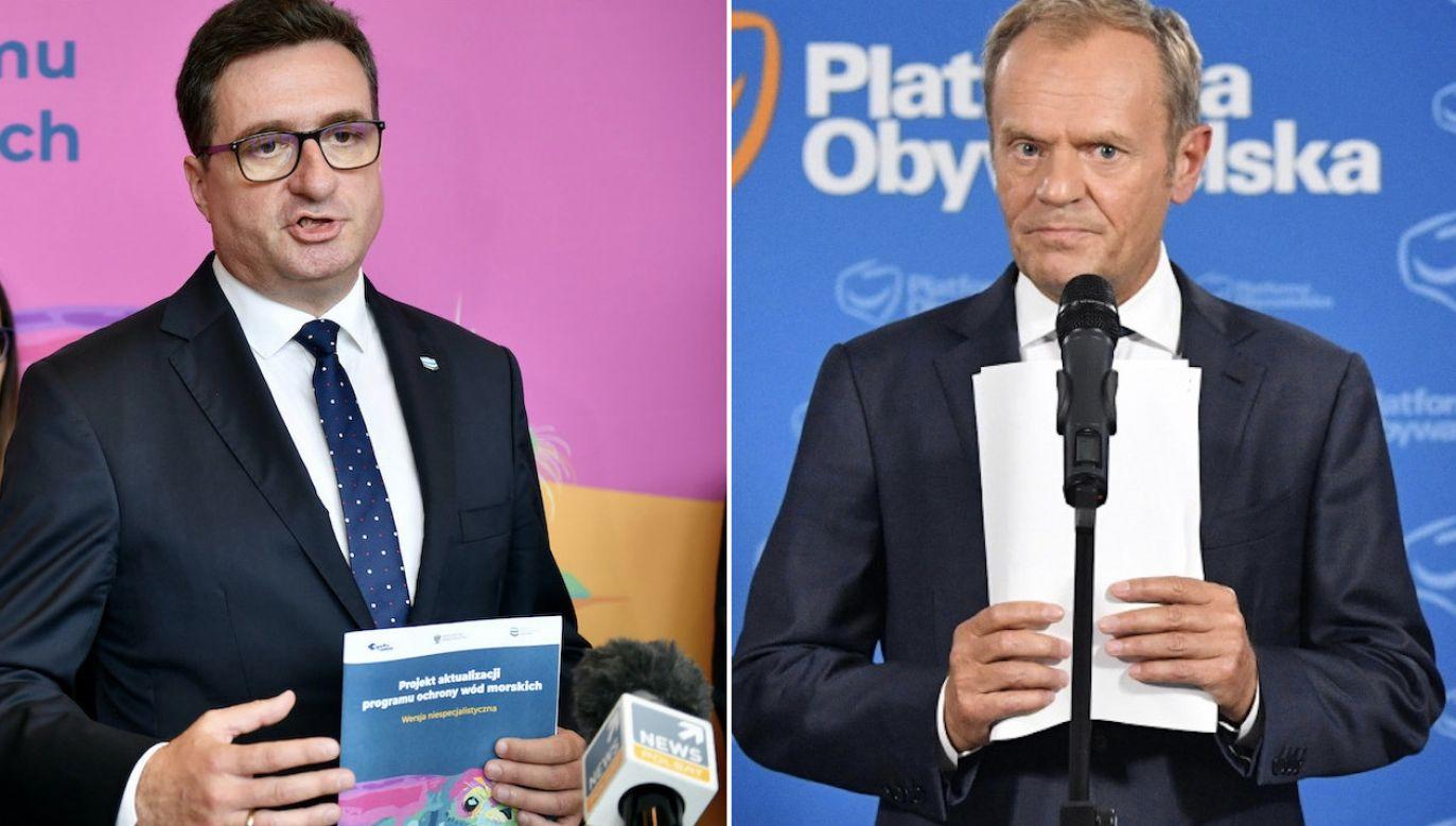 To nie pierwszy raz, kiedy Tusk mija się z faktami (fot. arch.PAP/Adam Warżawa, PAP/Radek Pietruszka)