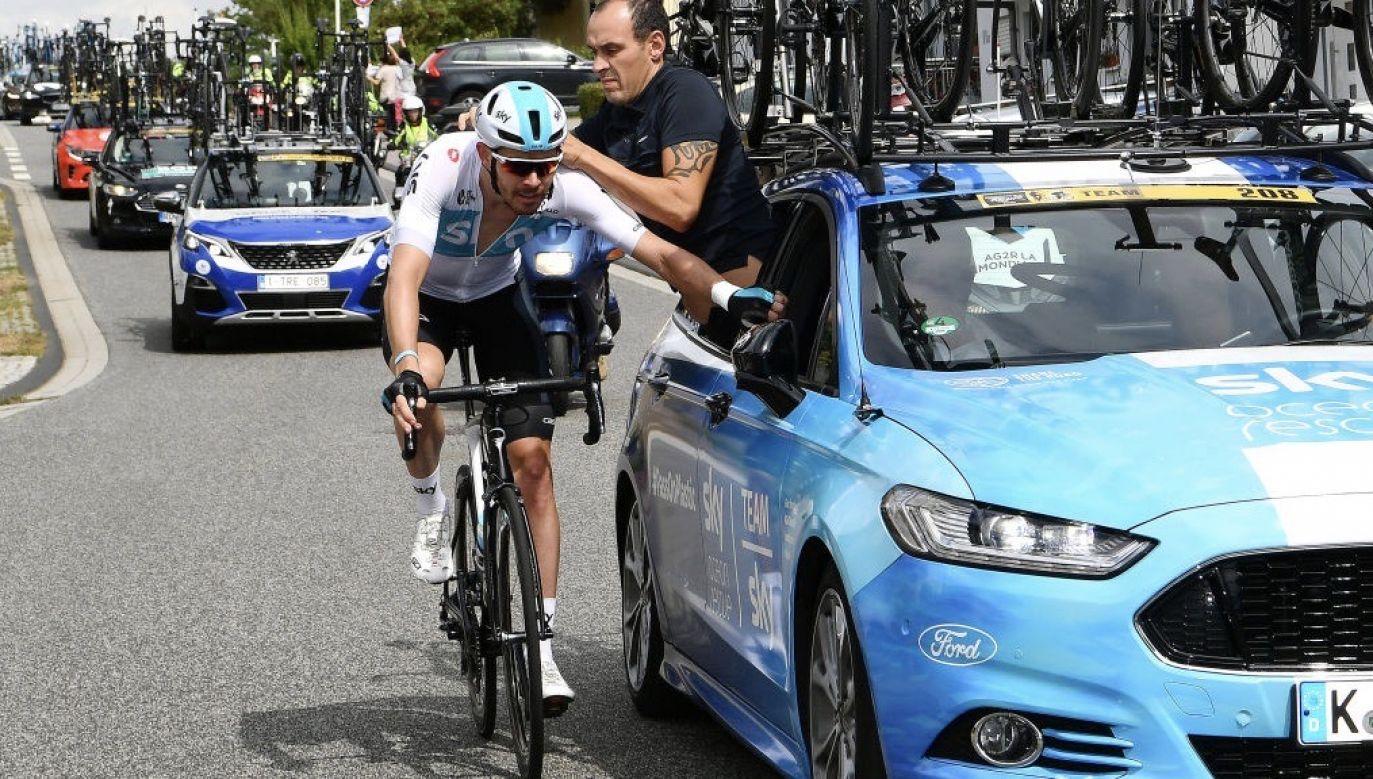 Luke Rowe podarował jednemu z lekarzy nowy rower (fot. Justin Setterfield/Getty Images)