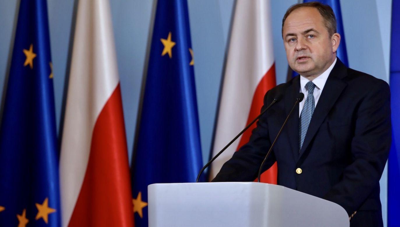 Minister został zapytany, jak udało się doprowadzić do sytuacji, w której Polska będzie jednym z głównych beneficjentów, jeśli chodzi o środki z Funduszu Odbudowy Gospodarczej UE (fot. PAP/Tomasz Gzell)