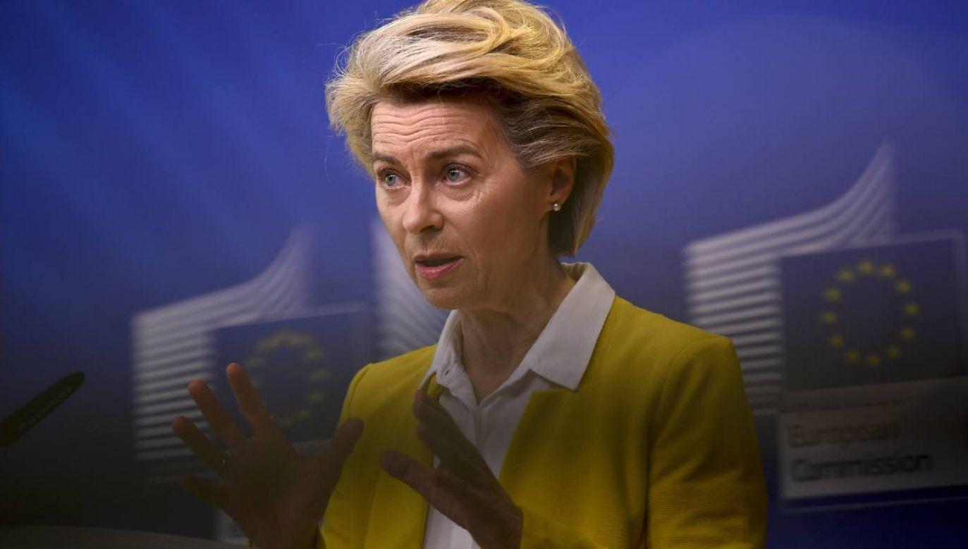 Szefowa Komisji Europejskiej Ursula von der Leyen (fot. PAP/EPA/JOHN THYS / POOL)