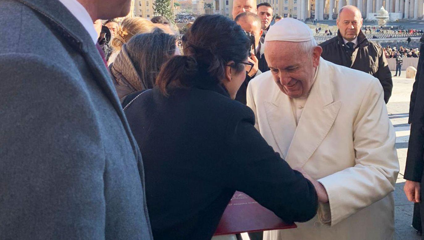 Prezydent Gdańska spotkała się z papieżem w Rzymie (fot. Facebook/Aleksandra Dulkiewicz)