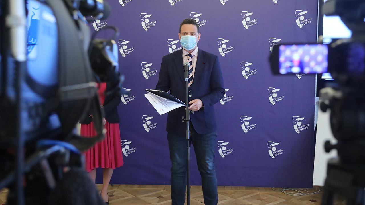Rafał Trzaskowski został nowym kandydatem PO w wyborach (fot. PAP/Wojciech Olkuśnik)