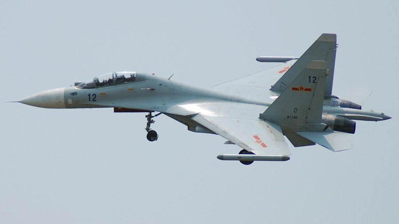 SU-30 chińskich sił powietrznych (fot. yt/perfect line)