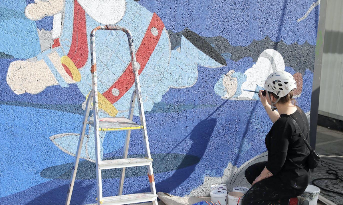 """Mural """"Kajko i Kokosz"""""""