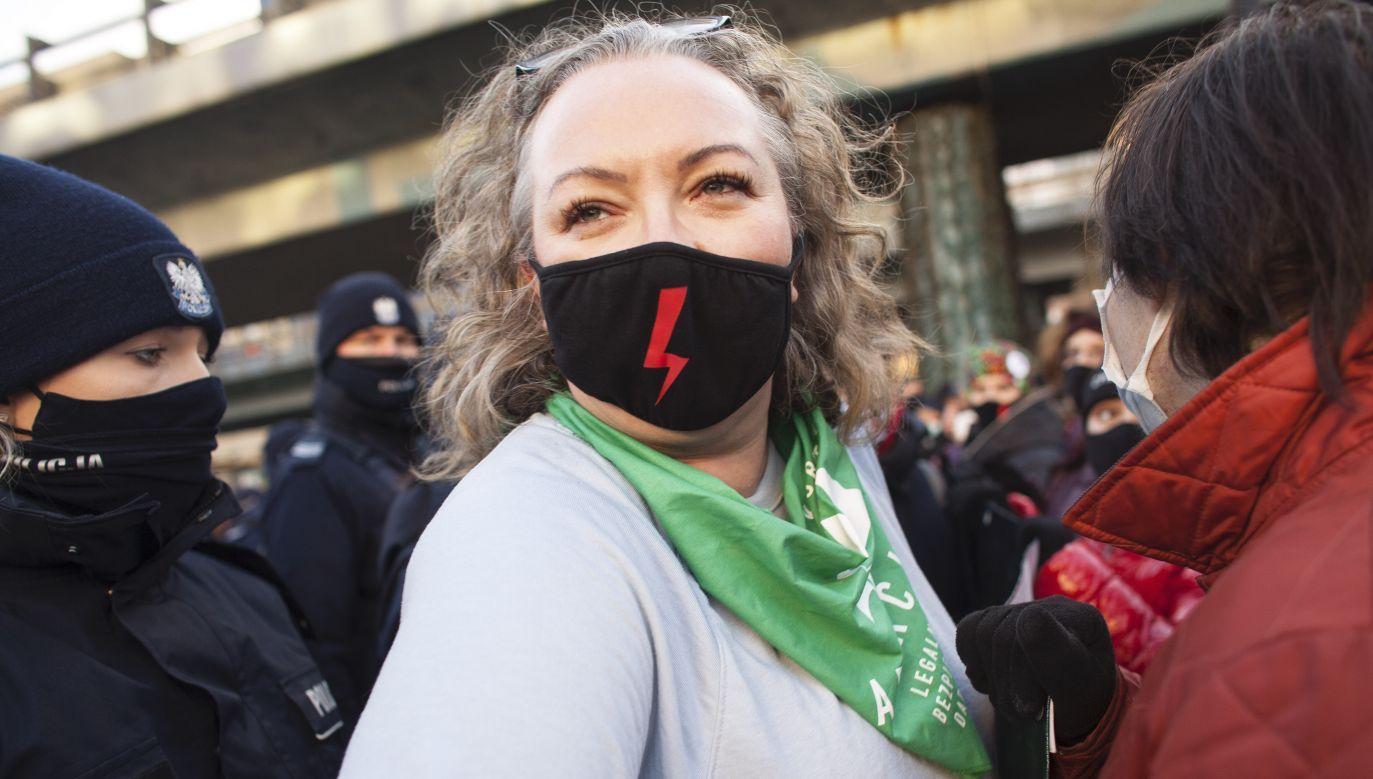 Marta Lempart, liderka Ogólnopolskiego Strajku Kobiet ( fot. Maciej Luczniewski/NurPhoto via Getty Images)