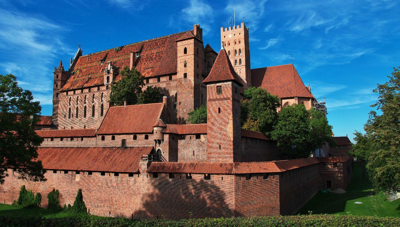 Piknik historyczny odbywa się na zamku w Malborku (fot. TVP)