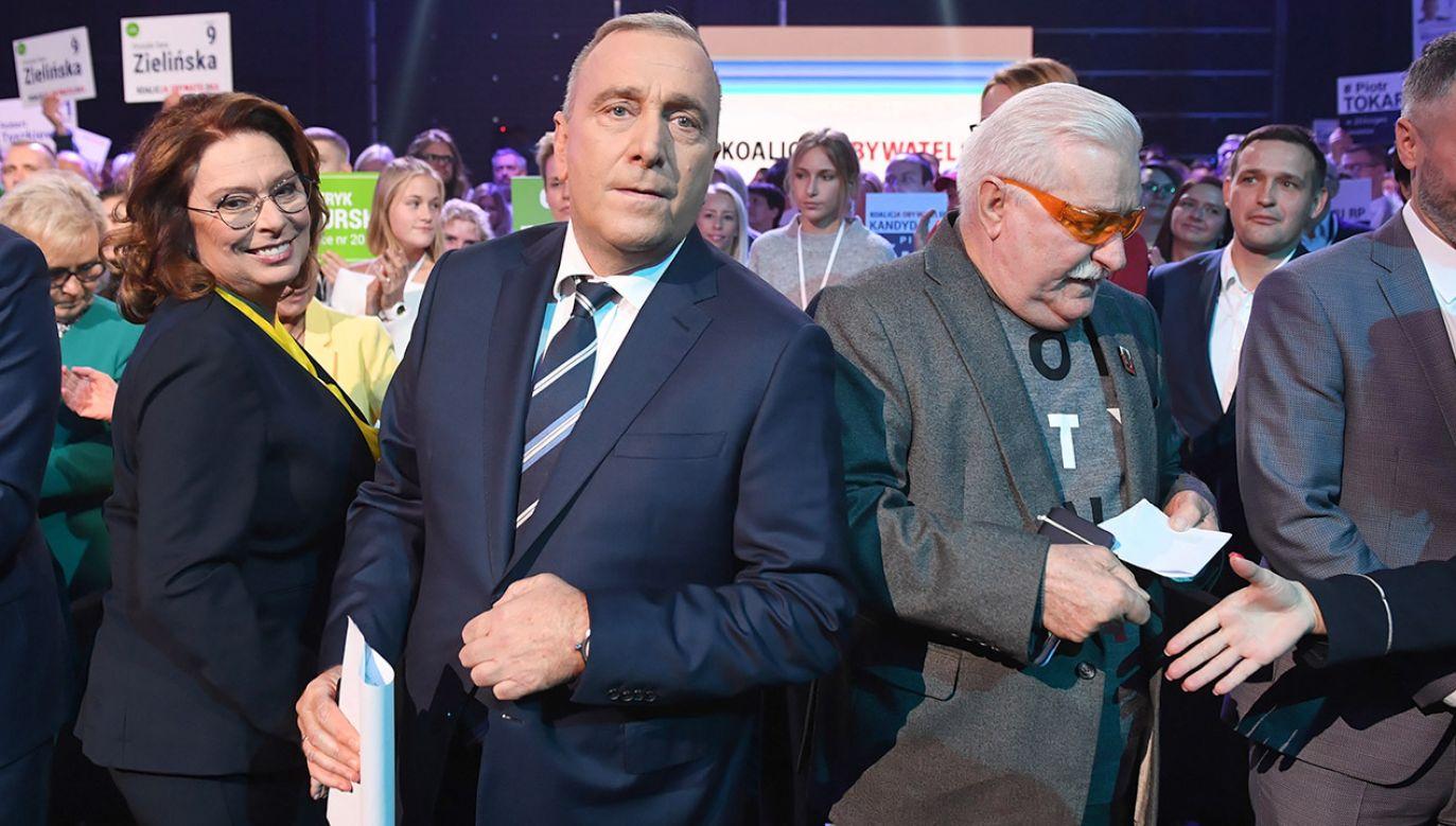 Lech Wałęsa wycofał się z poparcia Koalicji Obywatelskiej (fot. PAP/Radek Pietruszka)