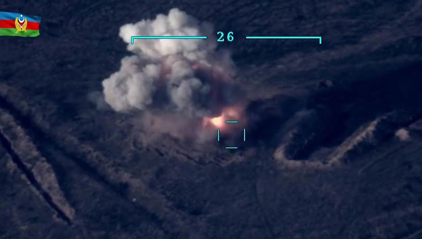 Oto, jak wyglądał pierwszy dzień wojny (fot. PAP/EPA/AZERBAIJAN DEFENSE MINISTRY )