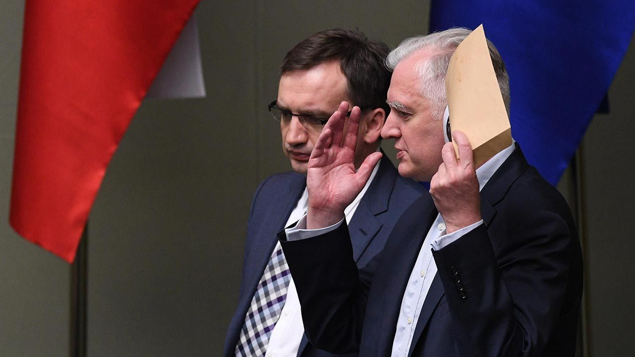 """Marek Suski o """"piątce dla zwierząt"""" (fot.  PAP/Radek Pietruszka)"""