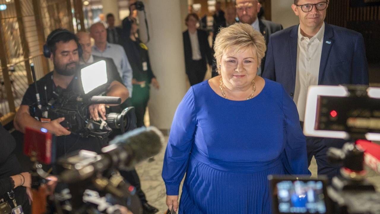 Partia Konserwatywna Erny Solberg przejdzie do opozycji (fot. PAP/EPA/Heiko Junge)