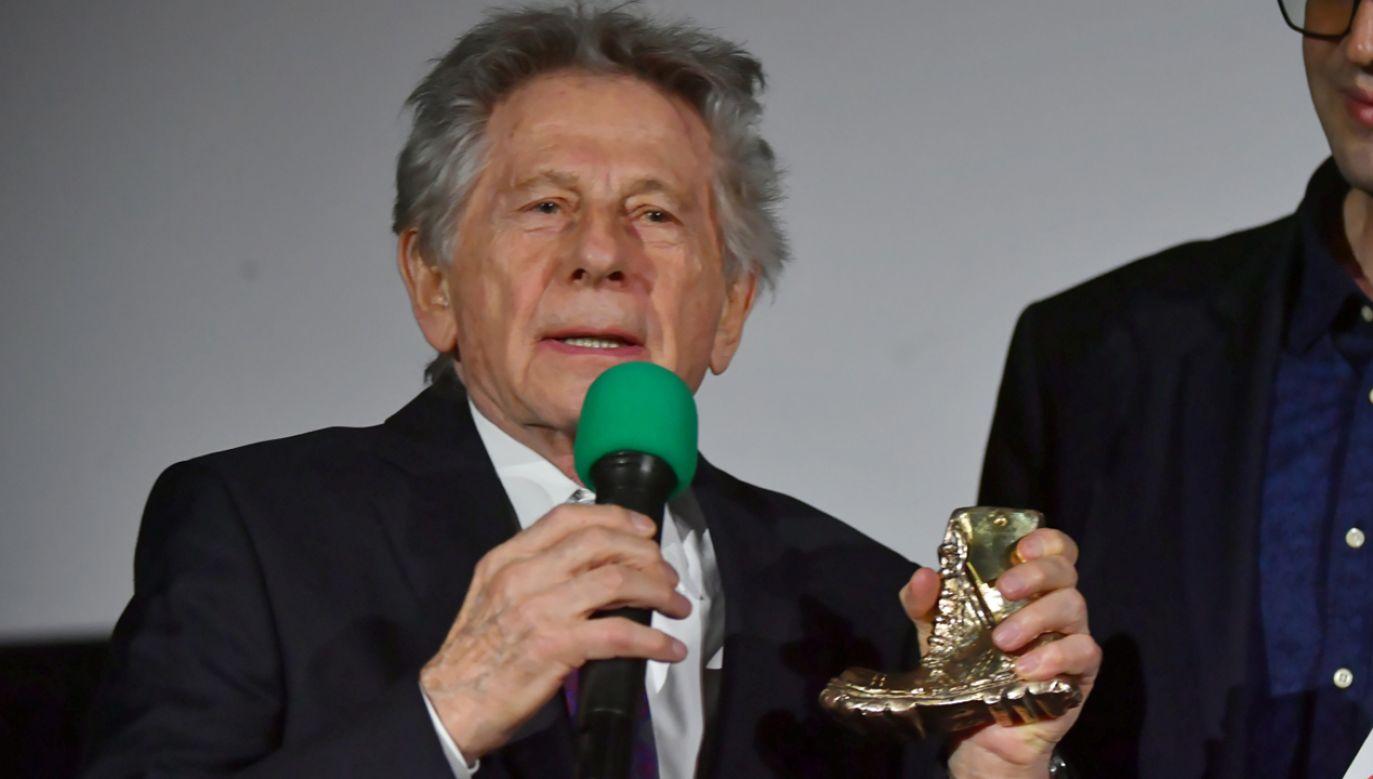 Reżyser Roman Polański (L) podczas gali 24. Forum Kina Europejskiego Cinergia (fot. PAP/Grzegorz Michałowski)