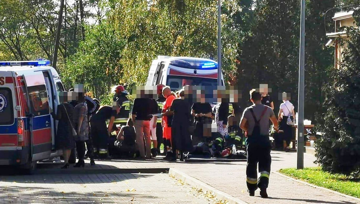 Poszkodowani zostali przetransportowani do szpitali (fot. FB/koscian112)