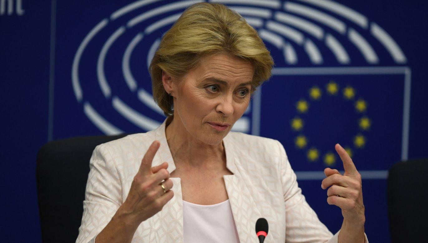 Ursula von der Leyen jest pierwszą kobietą na stanowisku szefa Komisji Europejskiej(fot. PAP/EPA/PATRICK SEEGER)