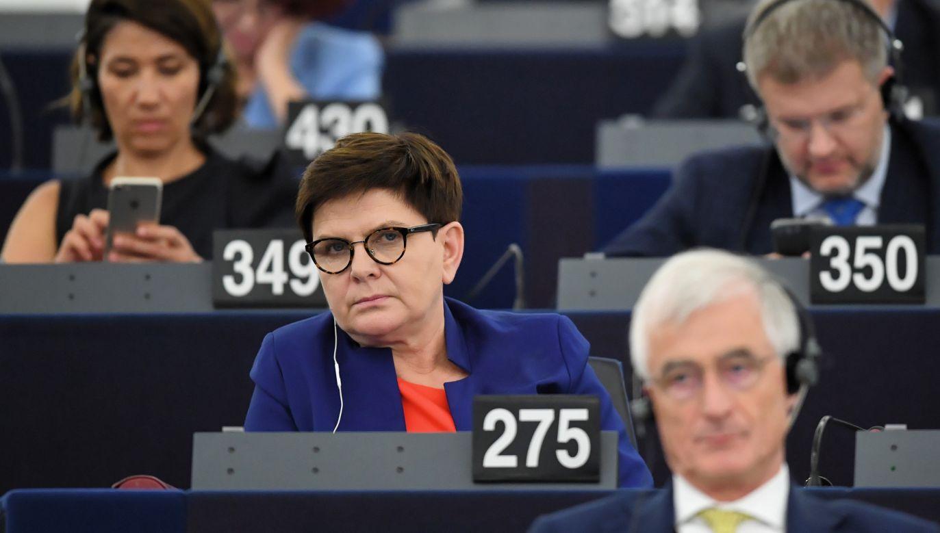 W ubiegłym tygodniu europarlamentarzyści także odrzucili rekomendowaną przez EKR Beatę Szydło (PAP/Radek Pietruszka)