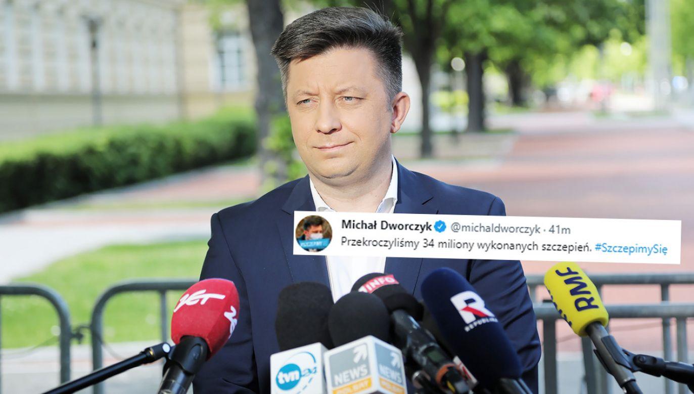 Michał Dworczyk (fot. PAP/Wojciech Olkuśnik)