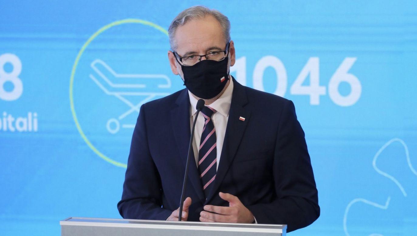 Podkreślił, że najbardziej skutecznym narzędziem walki z pandemią jest nasza codzienna postawa oparta na stosowaniu podstawowych zasad (fot. PAP/Paweł Supernak)