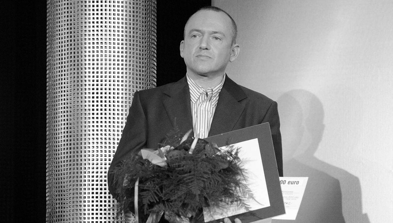 O śmierci dziennikarza poinformował na Facebooku zespół Halo.Radia (fot.  PAP/Grzegorz Jakubowski)