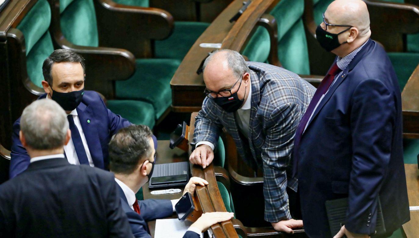 Włodzimierz Czarzasty z Lewicy o głosowaniu ws. KPO (fot. PAP/R.Guz)