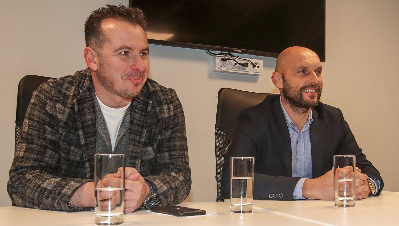 Radosław Kucharski oraz Marek Gołębiewski: dyrektor sportowy oraz nowy trener Legii Warszawa (fot: 400mm.pl)