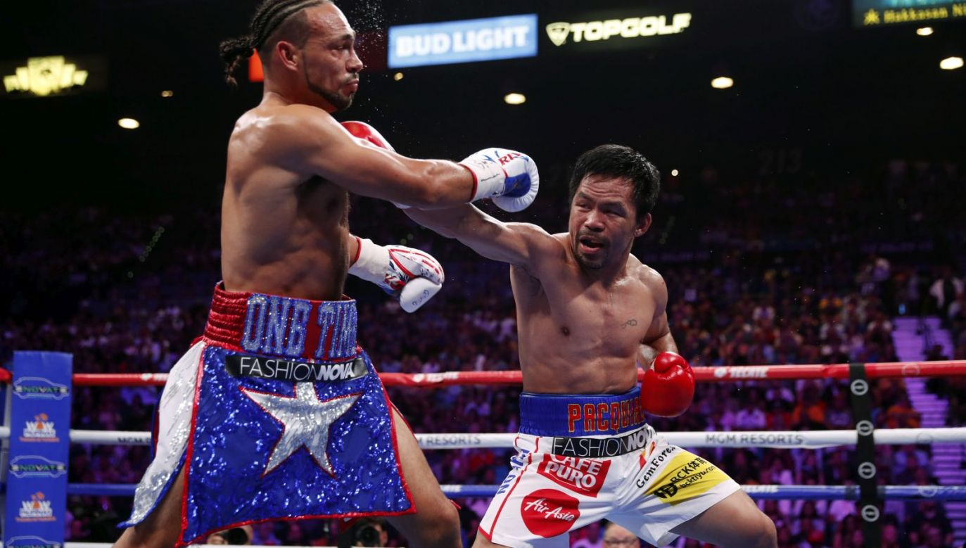 Manny Pacquiao i Keith Thurman (fot. Getty Images)