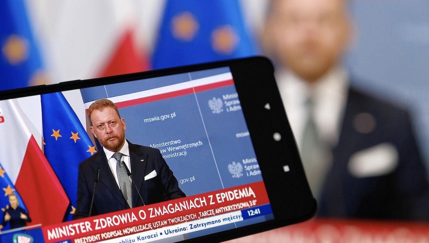 Szumowski odniósł się do źródeł jakich użyto we wniosku (fot. PAP/Mateusz Marek)