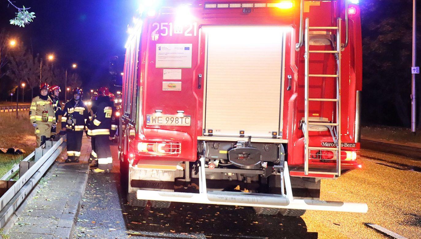 Na miejscu było sześć zastępów straży pożarnej (fot. PAP/Paweł Supernak, zdjęcie ilustracyjne)