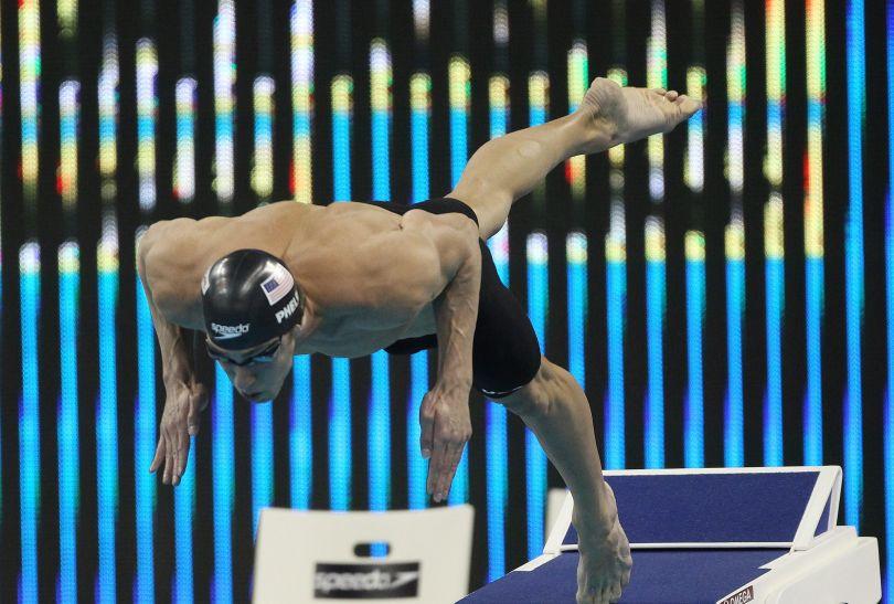 Przed Michaelem Phelpsem jeszcze sporo pracy (fot. PAP/EPA)