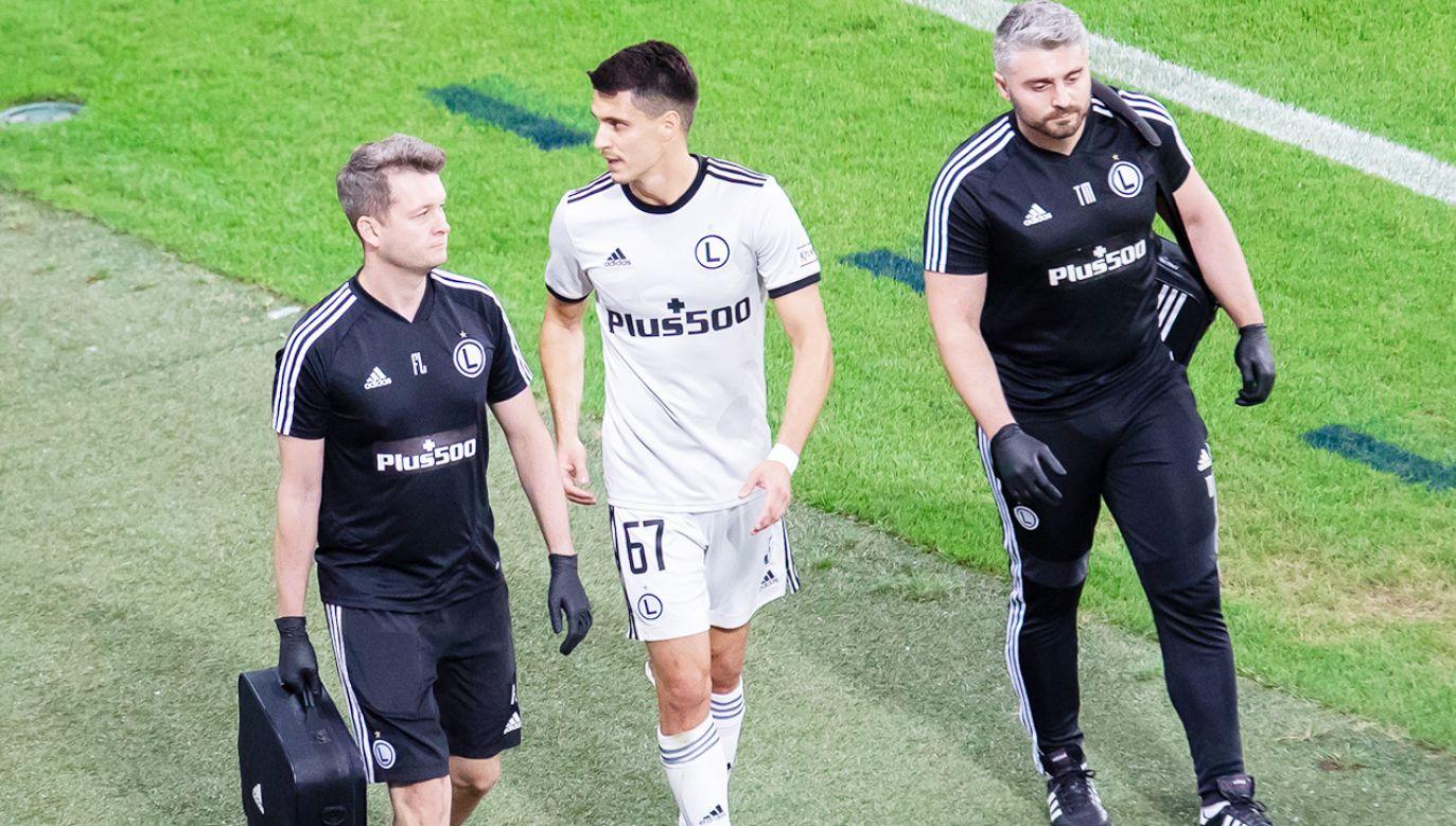 Bartosz Kapustka doznał kontuzji w meczu z Florą(fot. Mikolaj Barbanell/SOPA Images/LightRocket via Getty Images)