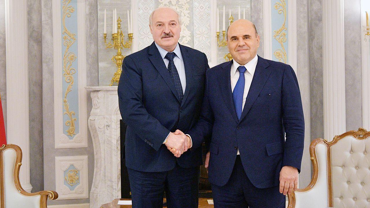Alaksandr Łukaszenka przyjął u siebie premiera Rosji Michaiła Miszustina (fot. PAP/EPA/ALEXANDER ASTAFYEV / SPUTNIK / GOVERNMENT PRESS SERVICE POOL)