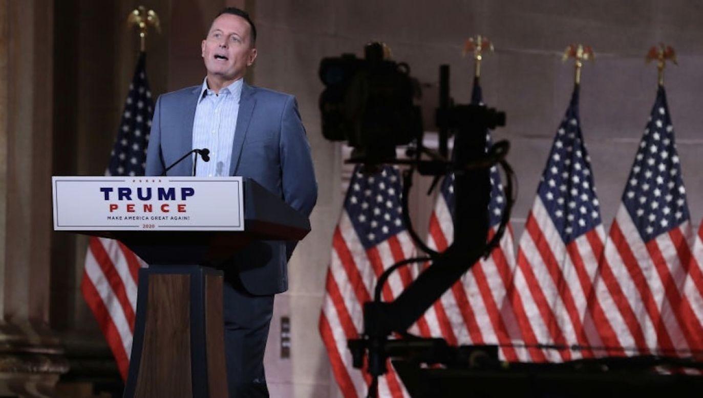 Richard Grenell jest bliskim współpracownikiem Donalda Trumpa (fot. Chip Somodevilla/Getty Images)