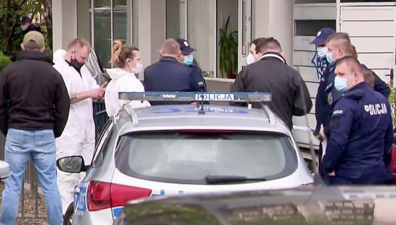 Policjantów zaalarmowano około godziny 13.30 (fot. TVP Info)