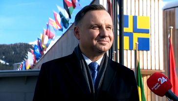 Prezydent RP Andrzej Duda (fot. TVP Info)