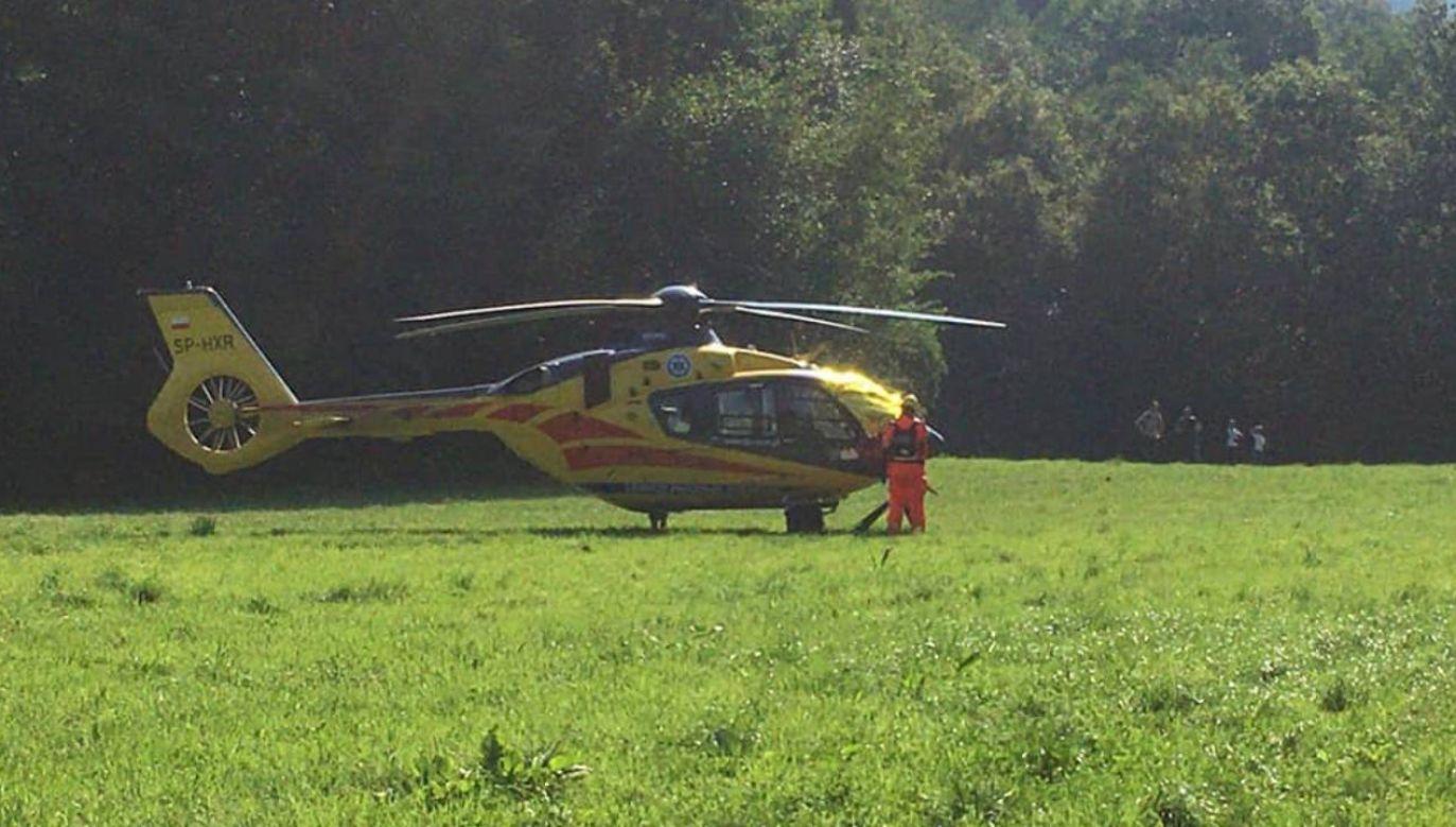 Zasłabł jeden z turystów (fot.OSP KSRG Lipnica Murowana)