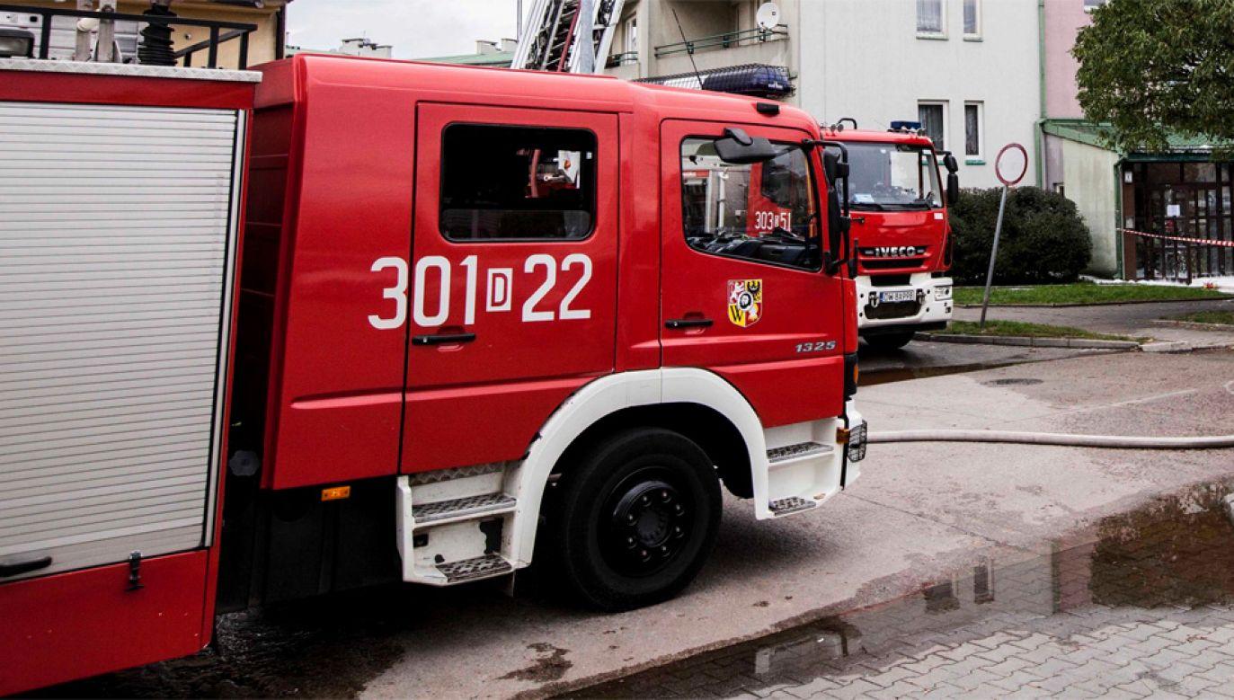 W akcji brało udział siedem zastępów strażaków (fot. PAP/Aleksander Koźmiński)