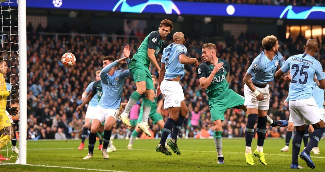 c8b09e4ab Szalony mecz i awans Tottenhamu. Manchester City – Tottenham Hotspur.  Fernando Llorente strzela gola (Fot. Getty)