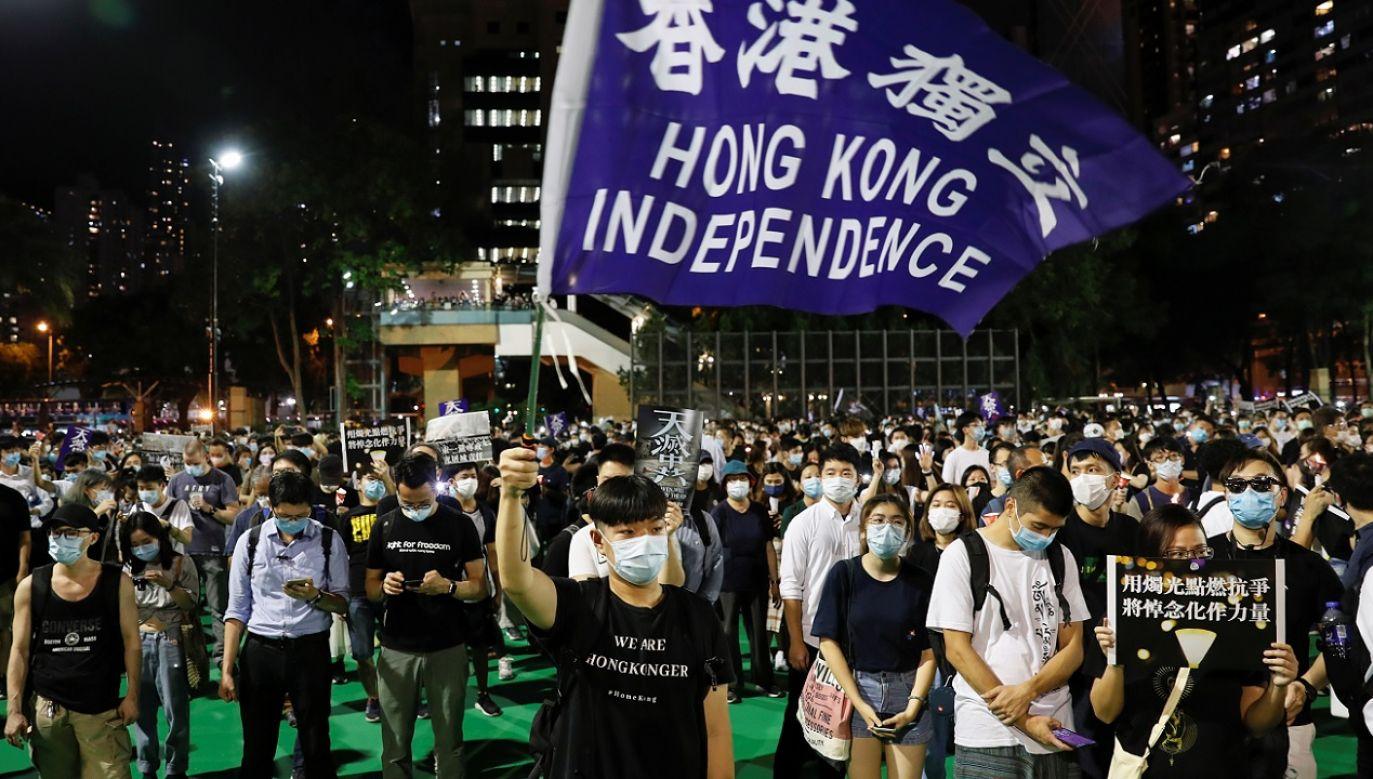 USA wezwały władze Chin do poszanowania praw człowieka i wypełnienia zobowiązań wobec Hongkongu (fot. Reuters Tyrone Siu)