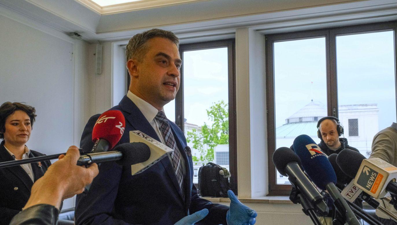 Przewodniczący KP Lewicy Krzysztof Gawkowski (fot. PAP/Mateusz Marek)