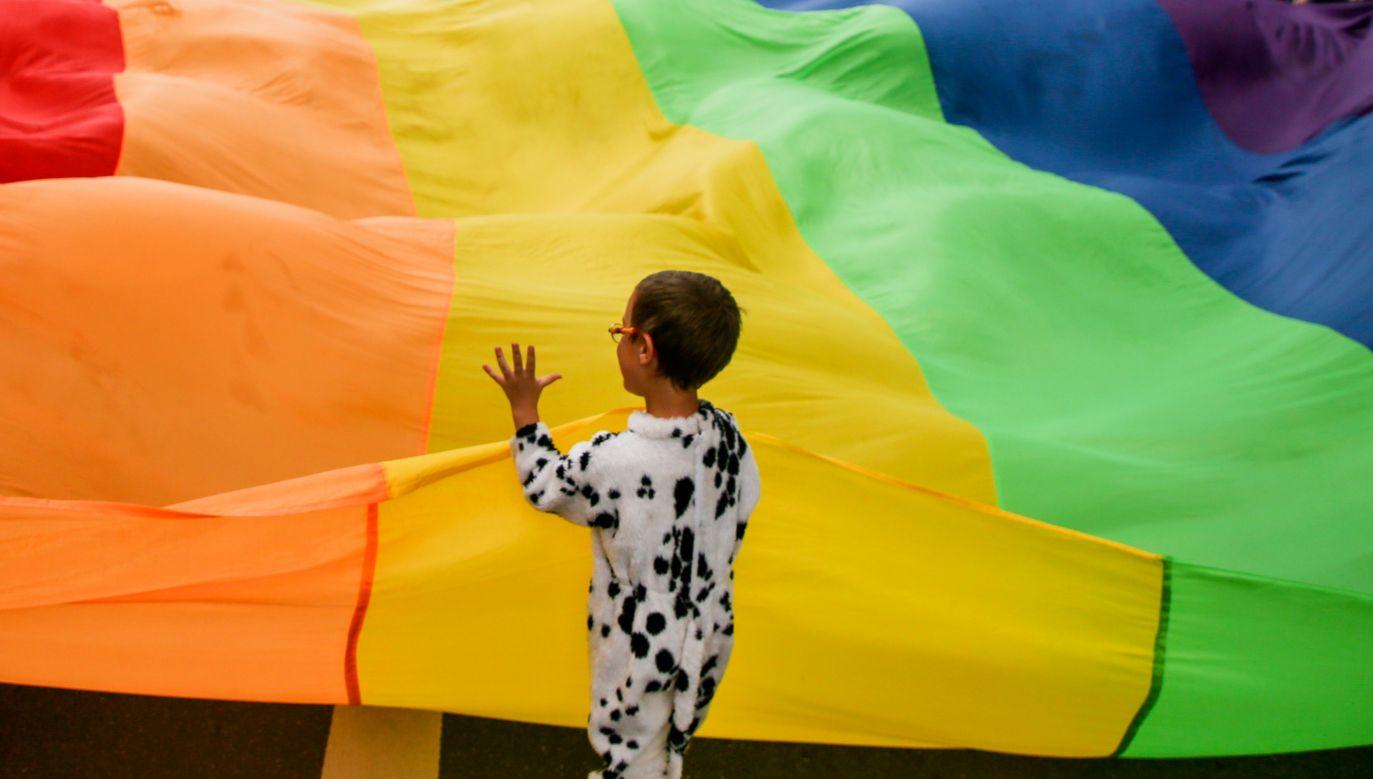 Marsz Równości w Krakowie w czerwcu 2018 roku. Fot. Beata Zawrzel/NurPhoto via Getty Images
