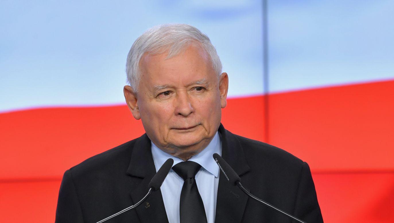 Prezes Prawa i Sprawiedliwości Jarosław Kaczyński (fot. arch. PAP/Radek Pietruszka)