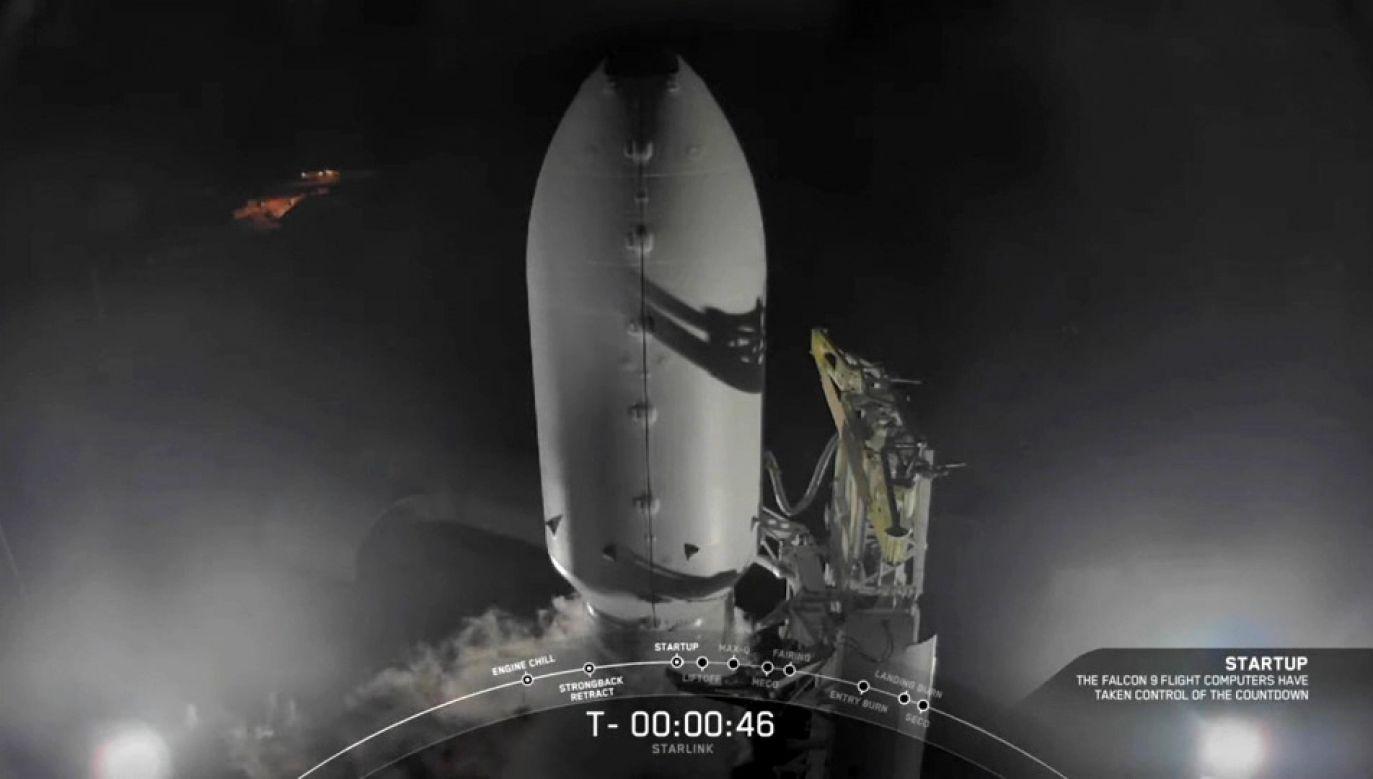 Rakieta Falcon 9 pomyślnie dostarczyła satelity na orbitę (fot. USSPAX/SPACEX)