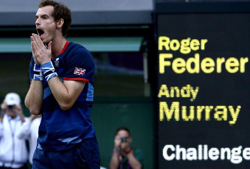 Murray po zwycięstwie nad Federerem (fot. PAP/EPA)
