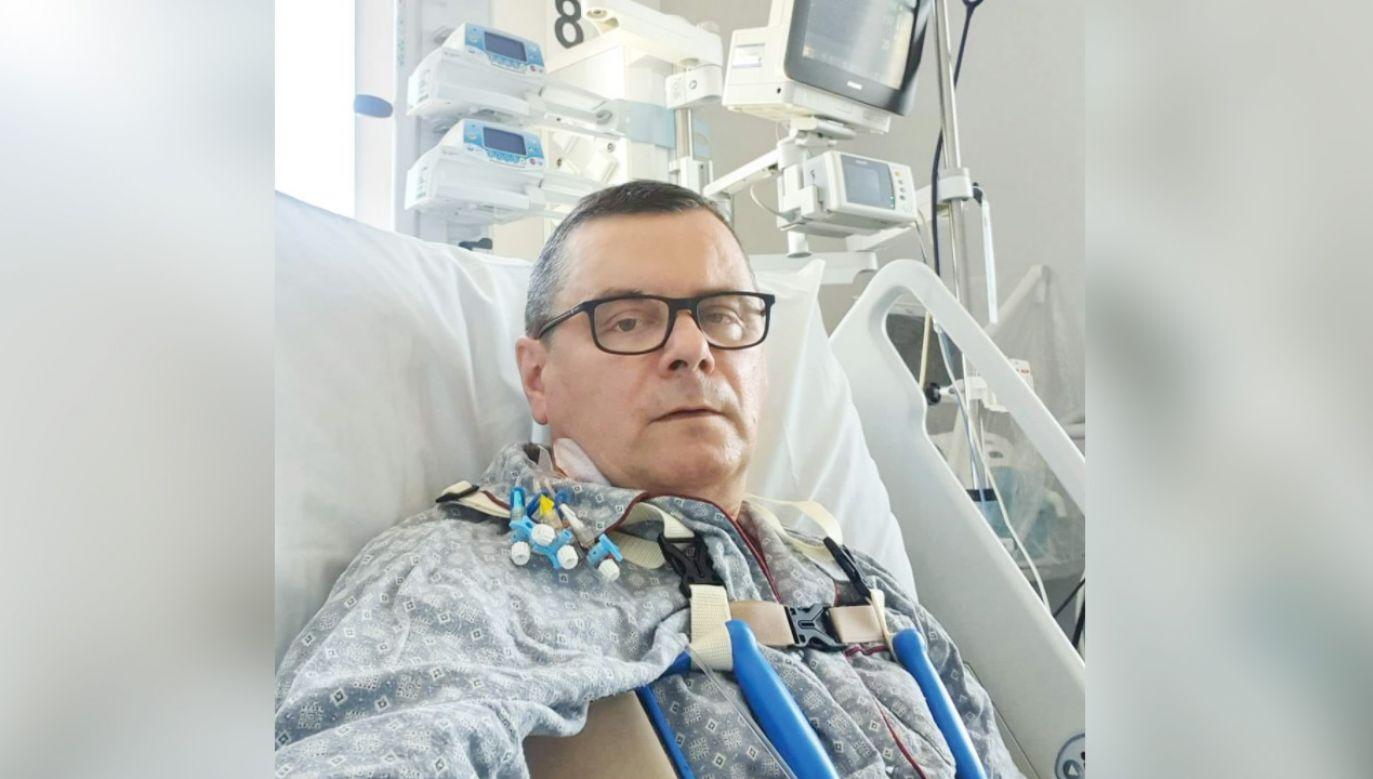 Poseł PiS Jerzy Polaczek w szpitalu (fot. Facebook/Jerzy Polaczek)