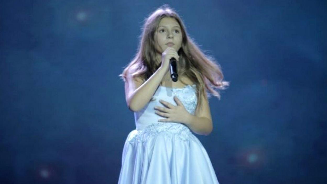 Isea Çili z Albanii zaśpiewa w Gliwicach o przyjaźni (fot. eurovision.tv)