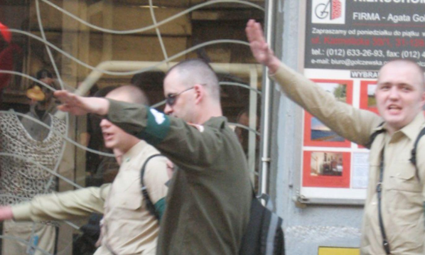 Manifestacja ONR w Krakowie, kwiecień 2007 r.