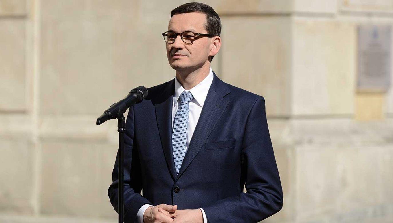 Prezes Rady Ministrów Mateusz Morawiecki  (fot. PAP/Jakub Kamiński)