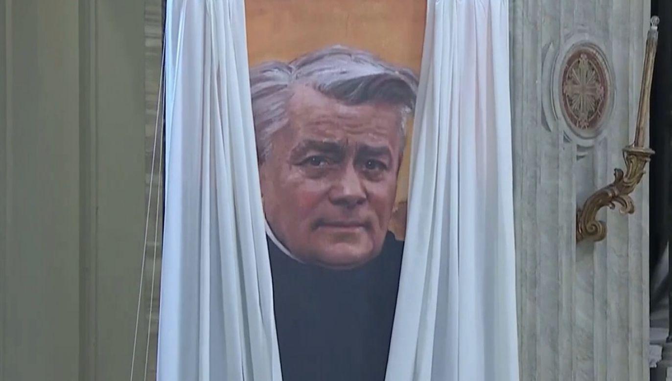 Beatyfikacja założyciela salwatorianów, o. Franciszka Marii od Krzyża Jordana (fot. TVP Info)